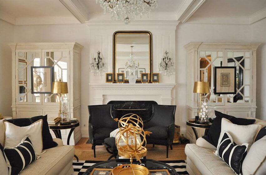 Living room accents: Go for high glamour with gold accents