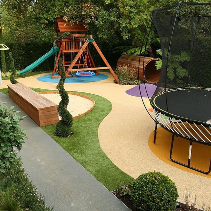 Wonderful playground in the backyard.