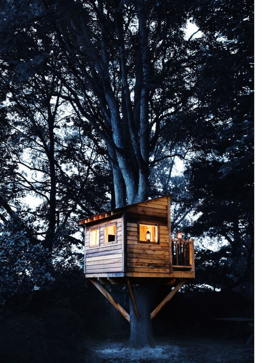 Classic tree house.