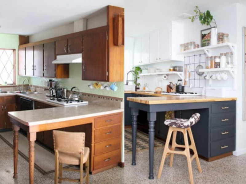 The Top 7 Easy Kitchen Cabinet Makeover Before and After Ideas