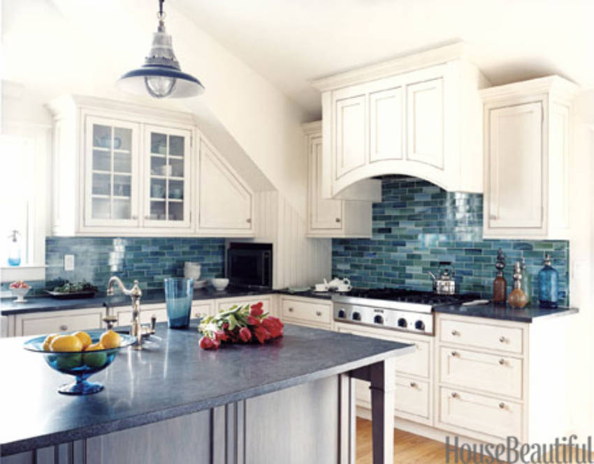 A tile backsplash is an easy way to revamp the look of your kitchen!