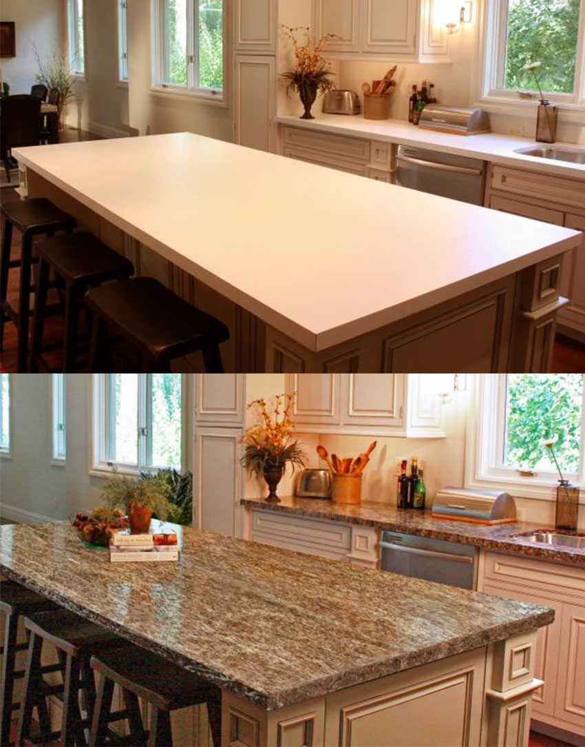 You can totally paint your countertop by yourself with a little preparation!