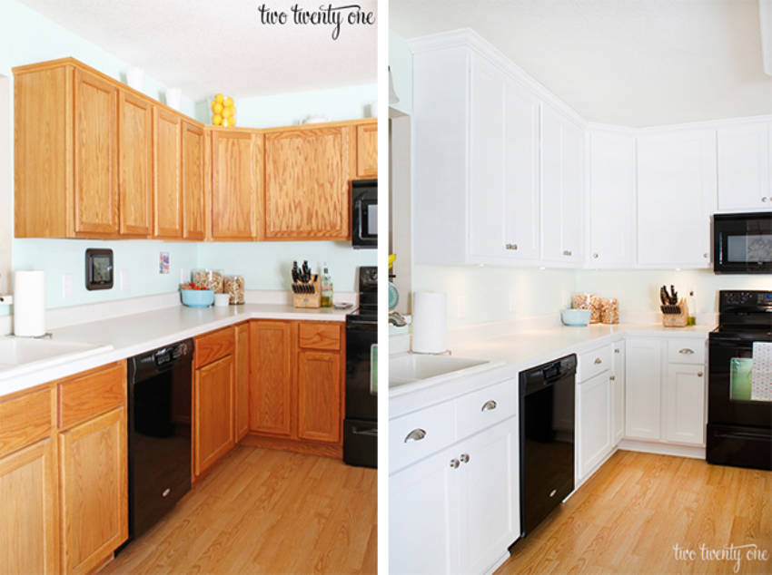 Paint the cabinets instead of the walls!