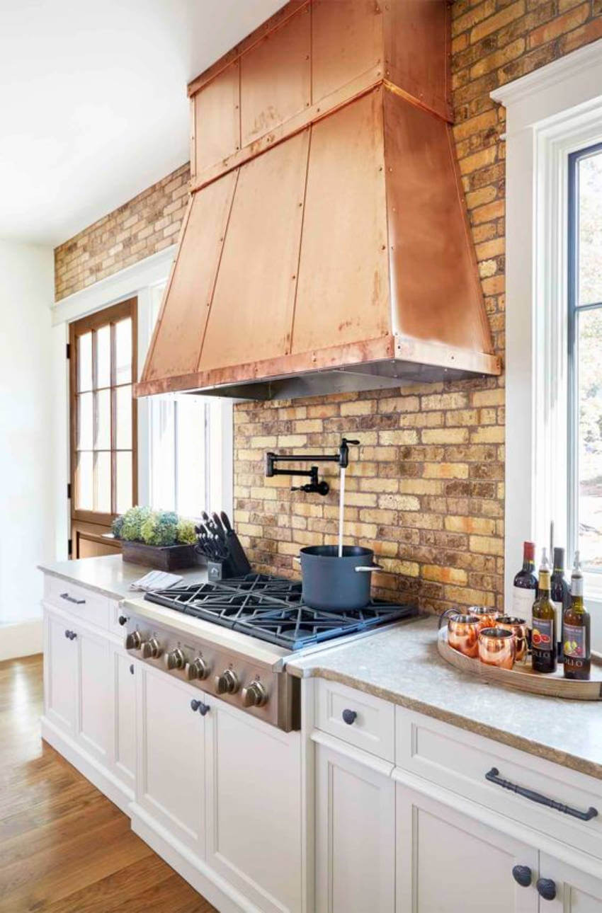 The hood will always be a major factor in any kitchen.