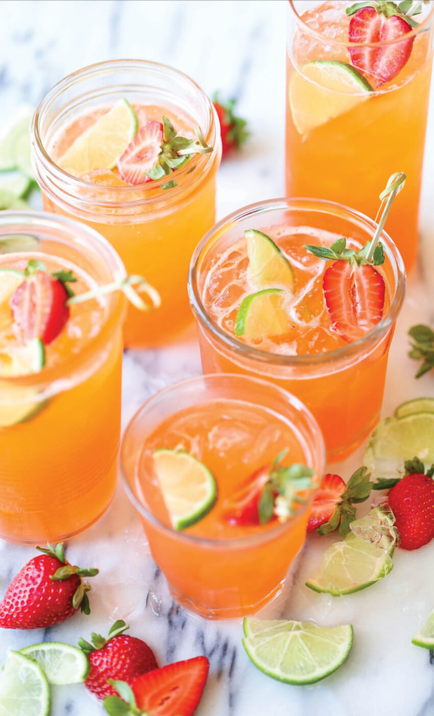 Punch is refreshing and delicious.