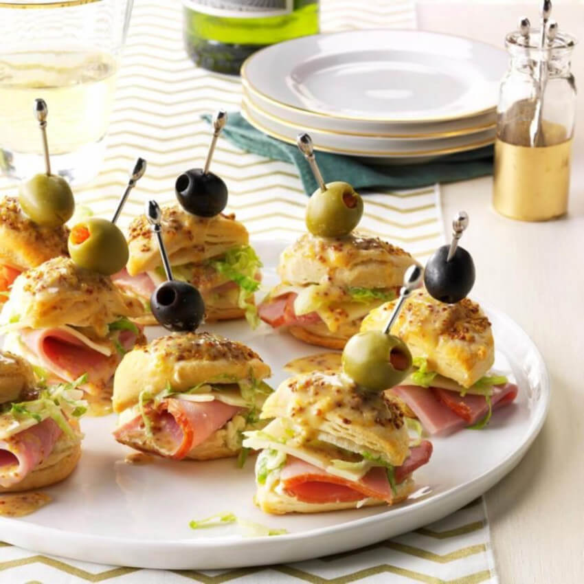 Mini sandwiches are the ultimate party food.