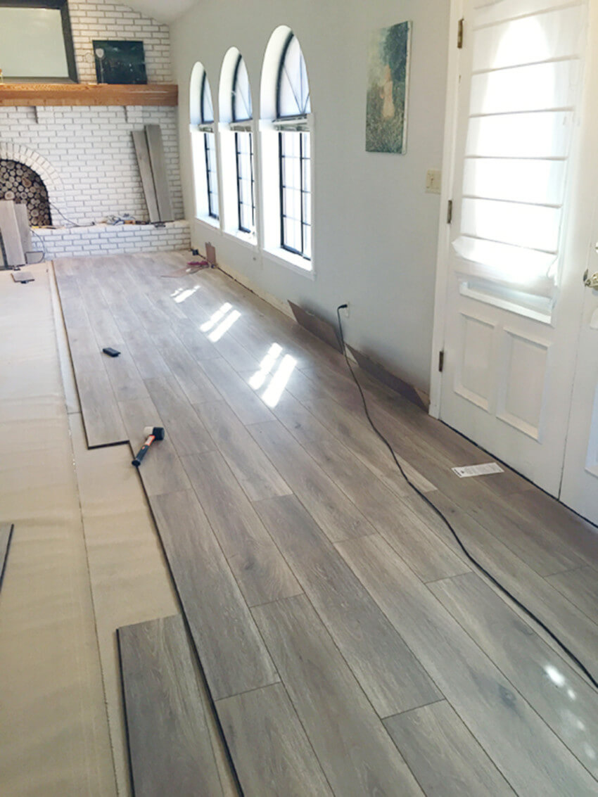 Laminate has many colors to choose from