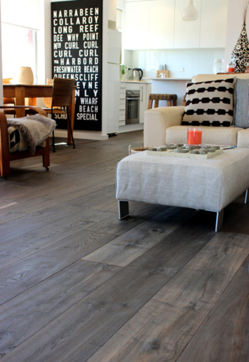 Hardwood is a great material for your living room.