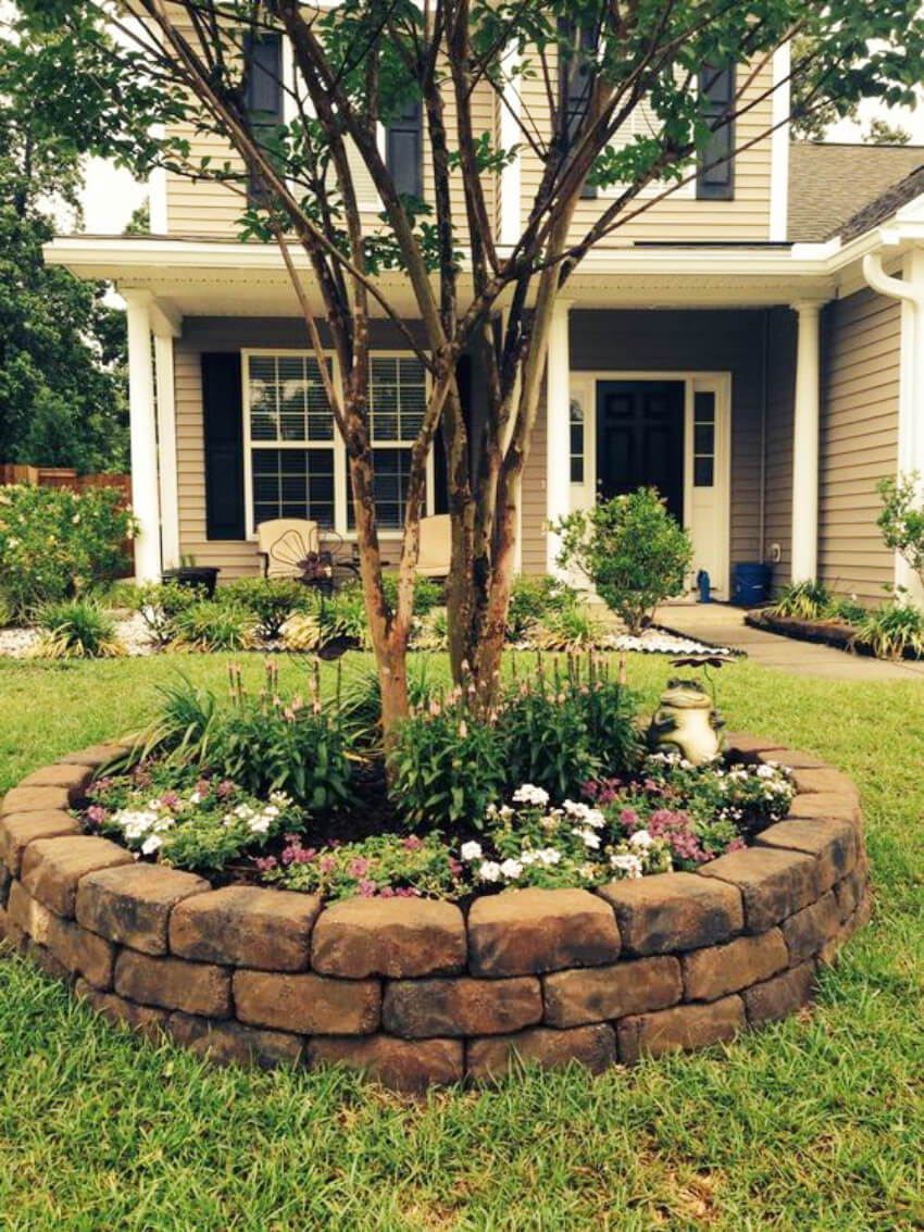Stone makes for an incredible decor addition outdoors!