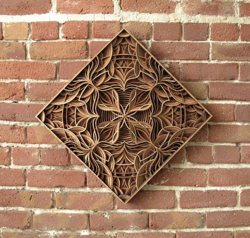 A beautiful geometric sculpture.