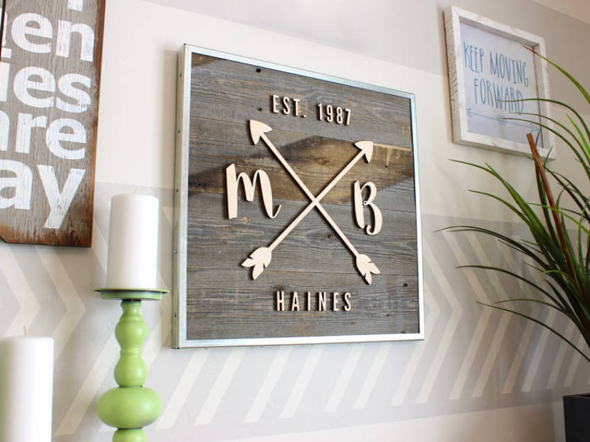 A dazzling wooden sign.