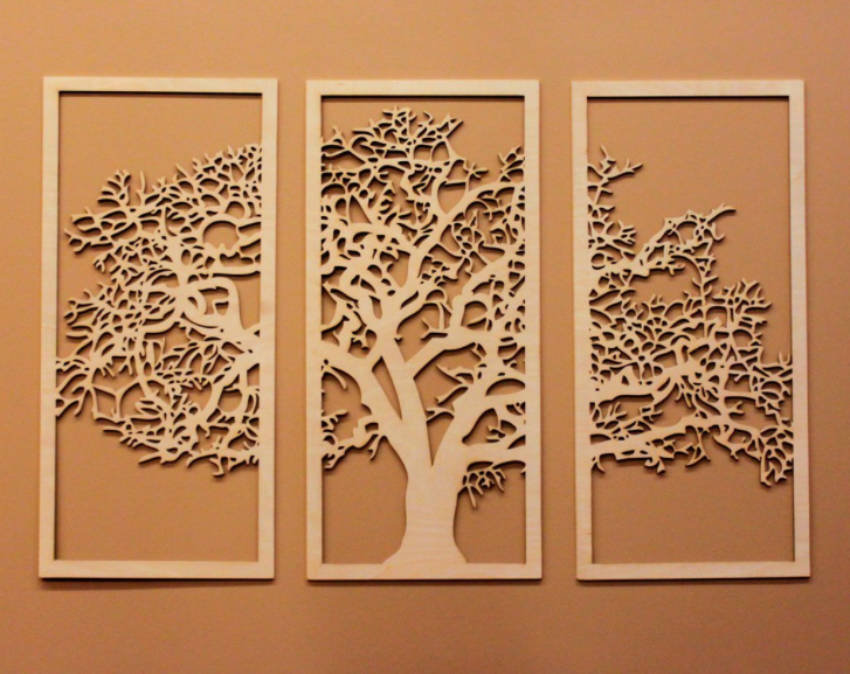 A Tree of Life framed design.