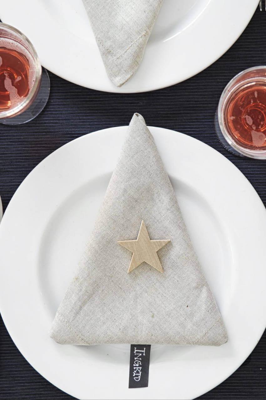Fold your napkins to look like Christmas trees.