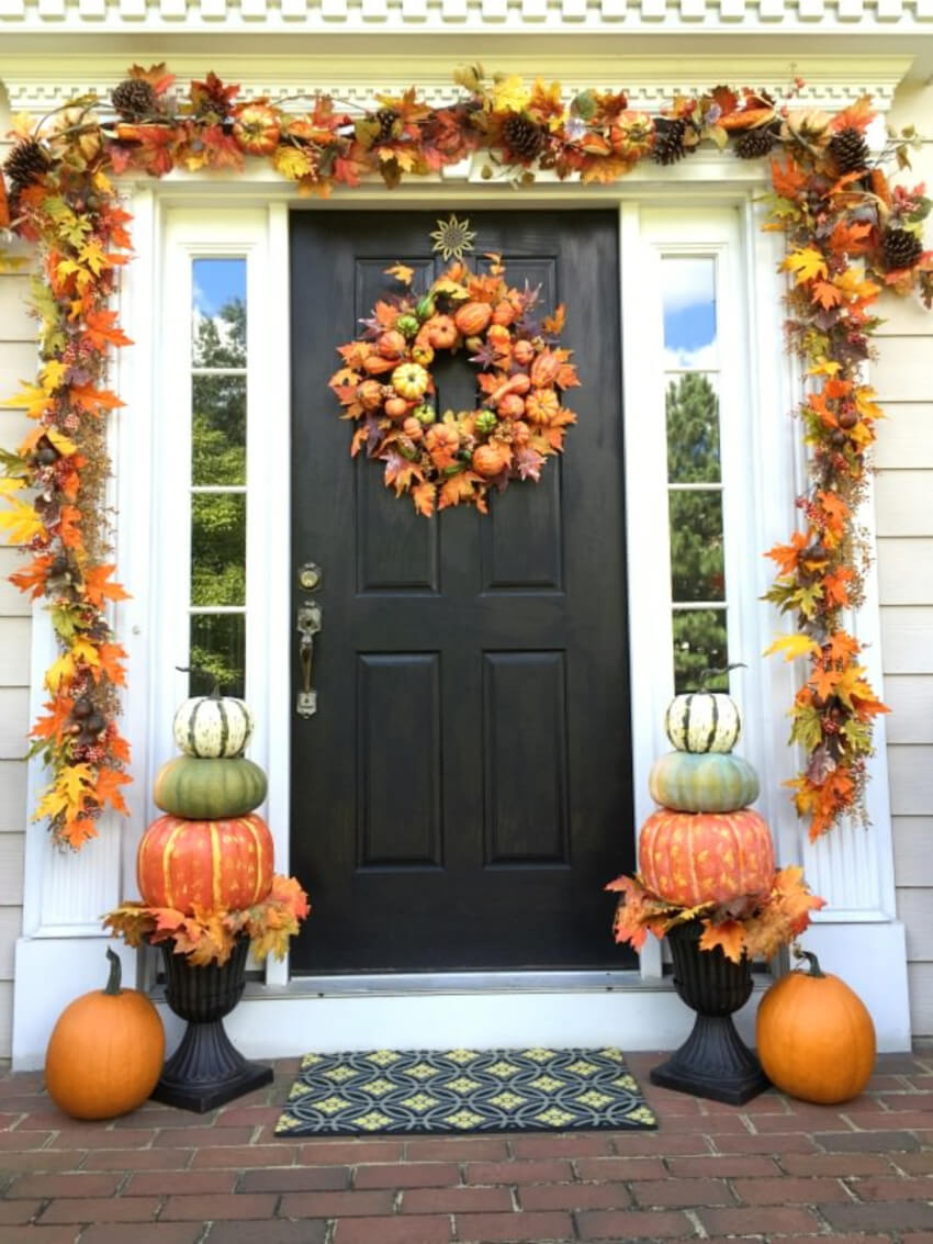 Get the leaves taken care of and use them for decor!