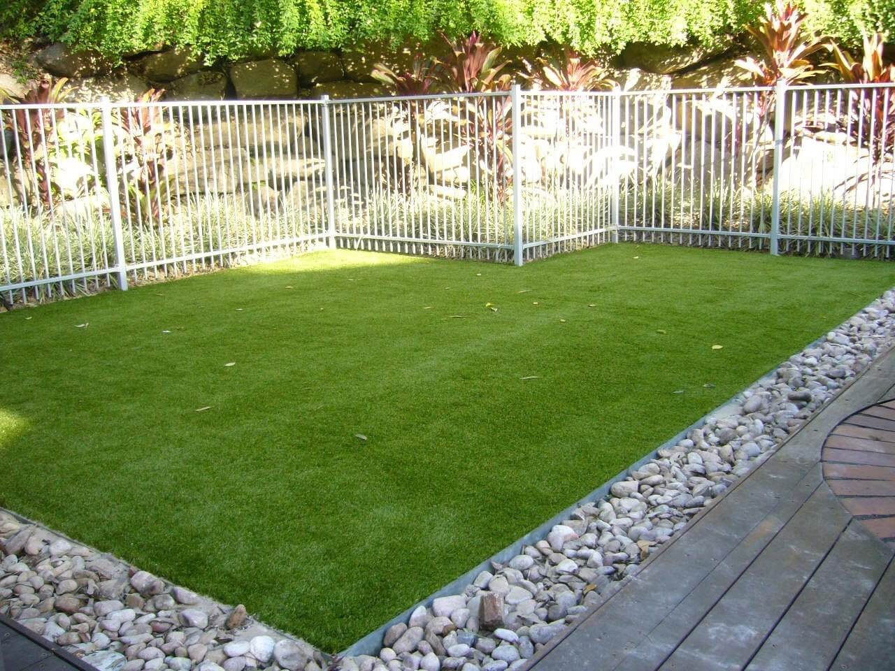 Fake grass is great for people with no time on their hands.