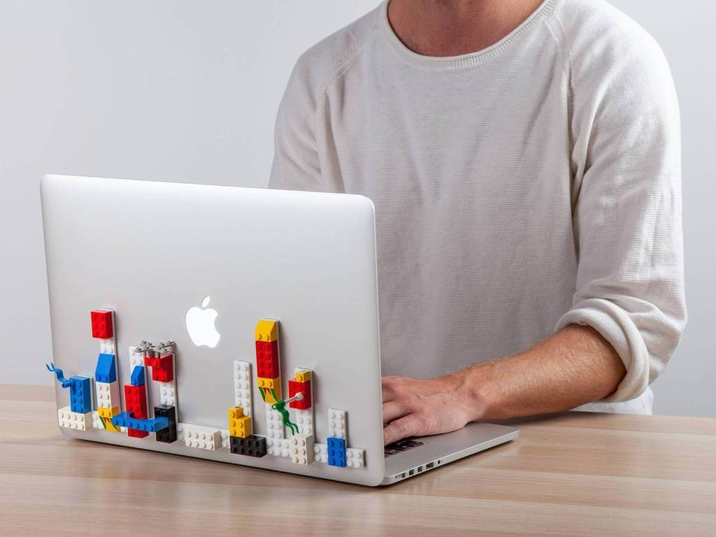 Why not outfit your laptop with LEGOs?