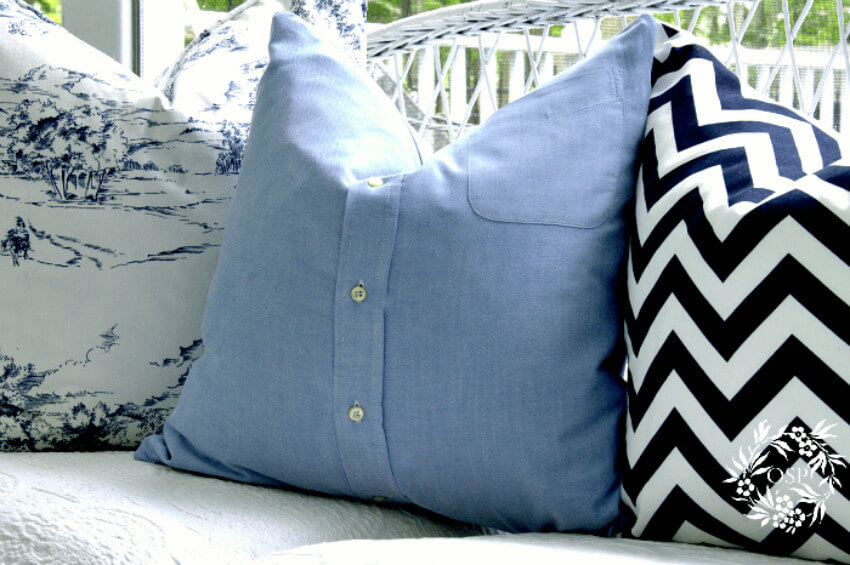 Old, worn-out T-shirts with sentimental value can make some awesome pillows.