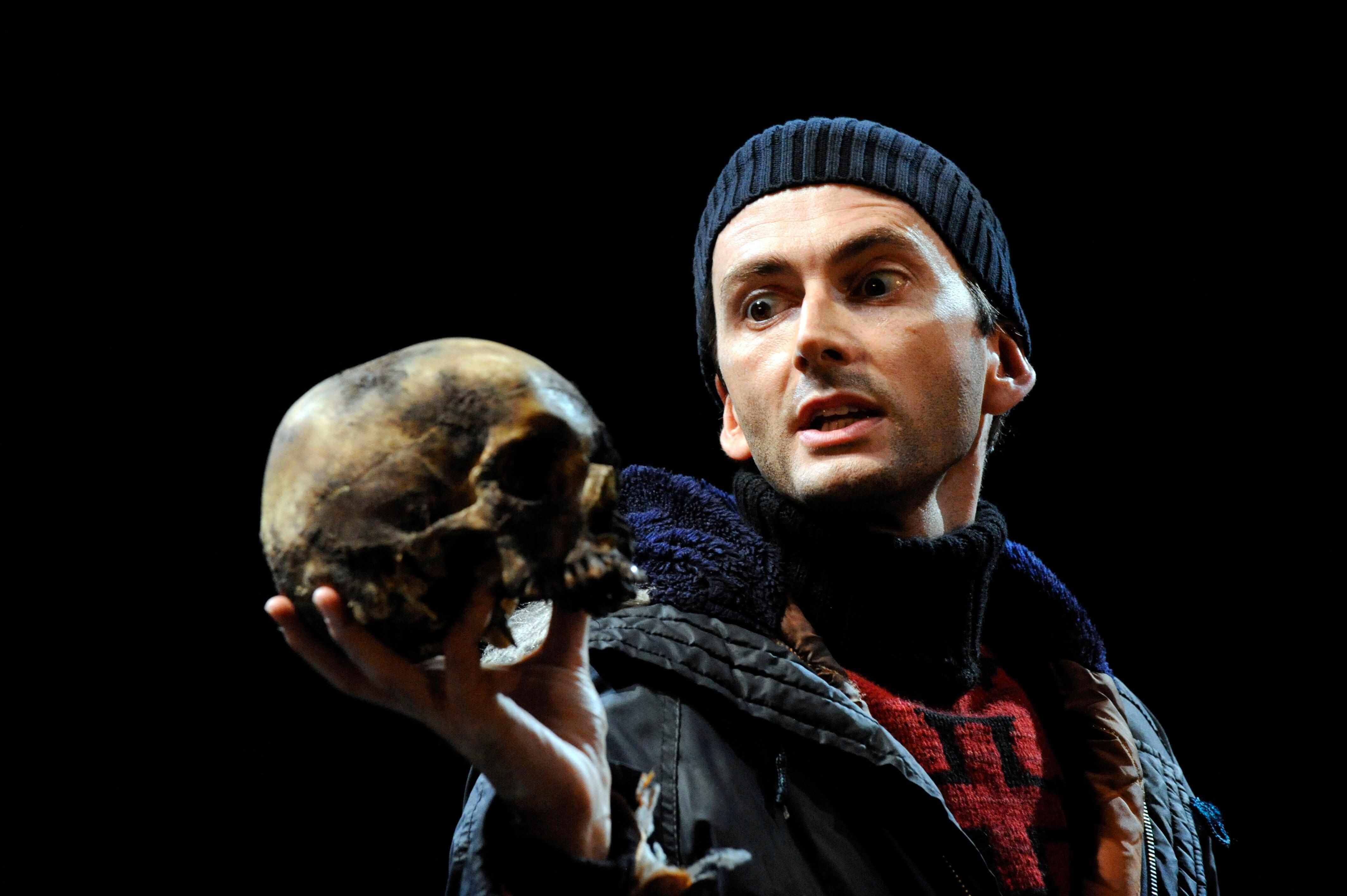 David Tennant playing Hamlet in the Royal Shakespeare Company