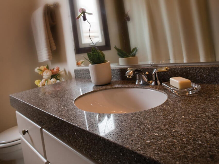 Engineered stone countertops don't need to be sealed at all!