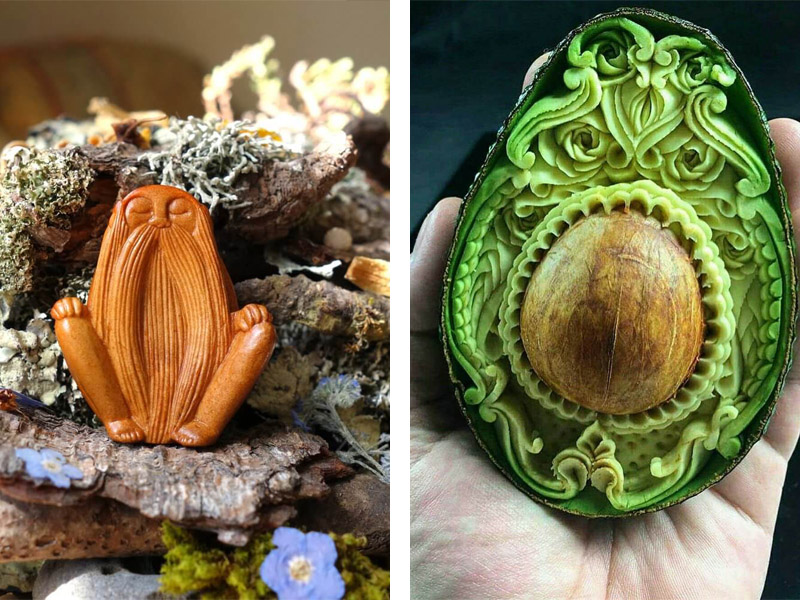 Jan Campbell's Avocado Stone Carvings Are Simply Magical