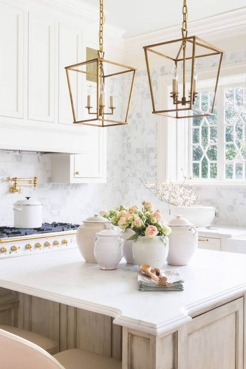 Make your kitchen look good instantly with new light fixtures.