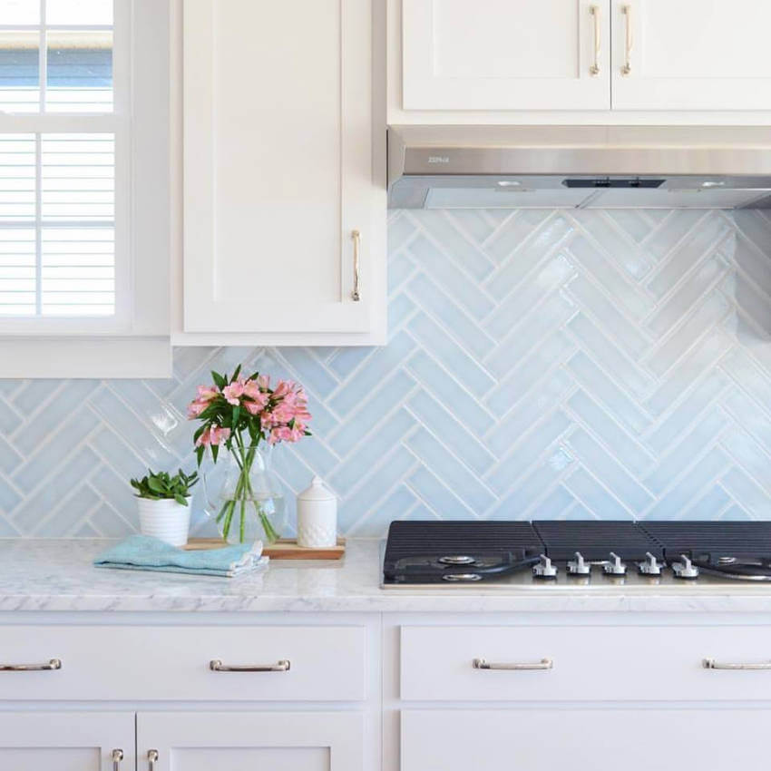 Herringbone pattern is super chic!