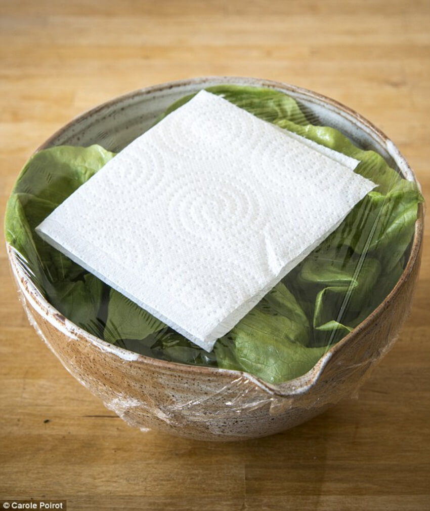 Use a paper towel to keep away the moisture.