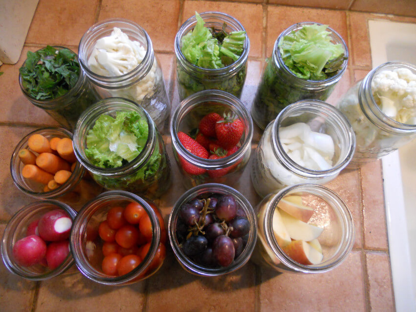 Use glass to store your veggies instead of plastic.