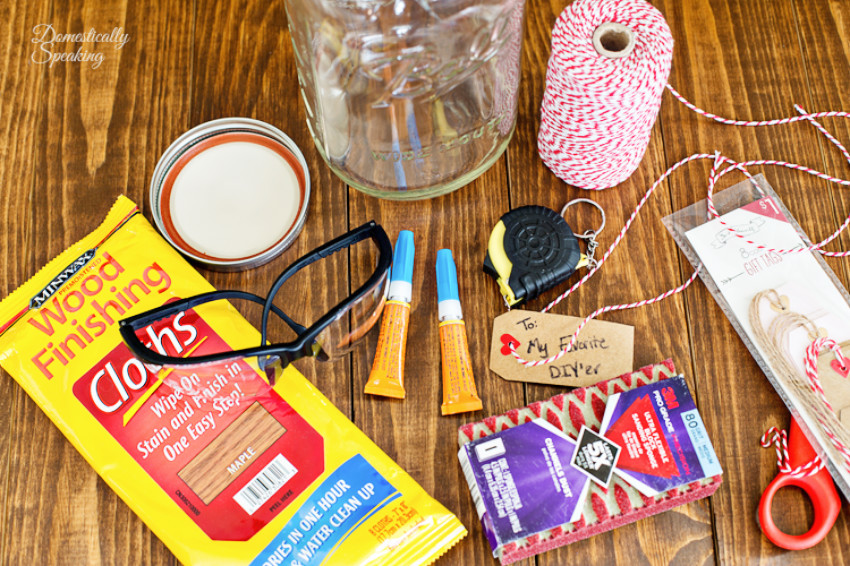 Fill a jar with DIY supplies to give to a crafty friend!
