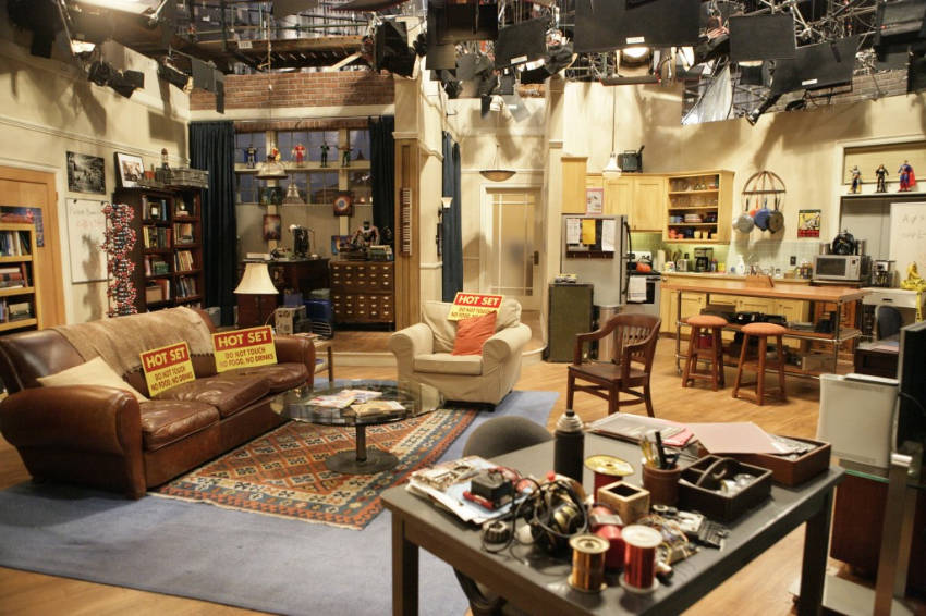 The set used as Leonard and Sheldon's apartment on the show.