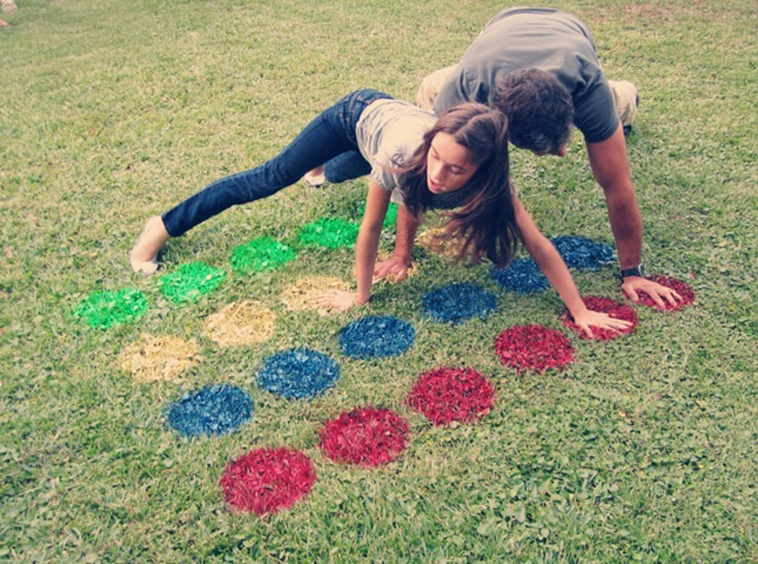 You can use the paint for the lawn stars to create a twister board!