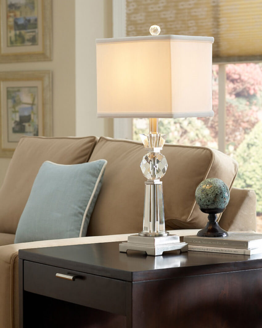 Lamps should always blend in with the rest of the decor.