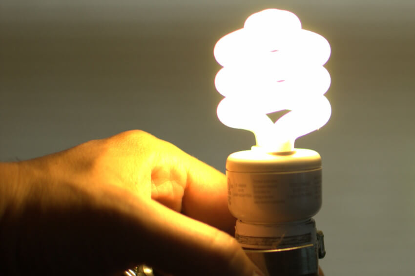 Fluorescent lights are efficient, but not as much as LED lights.