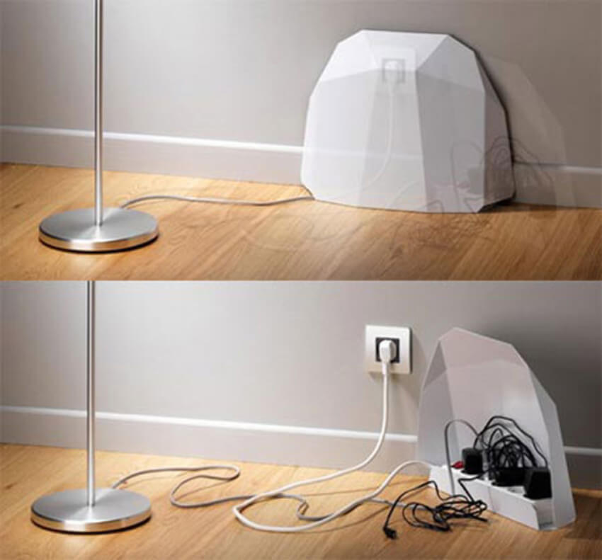 Hide wires with a simple and neutral cover.