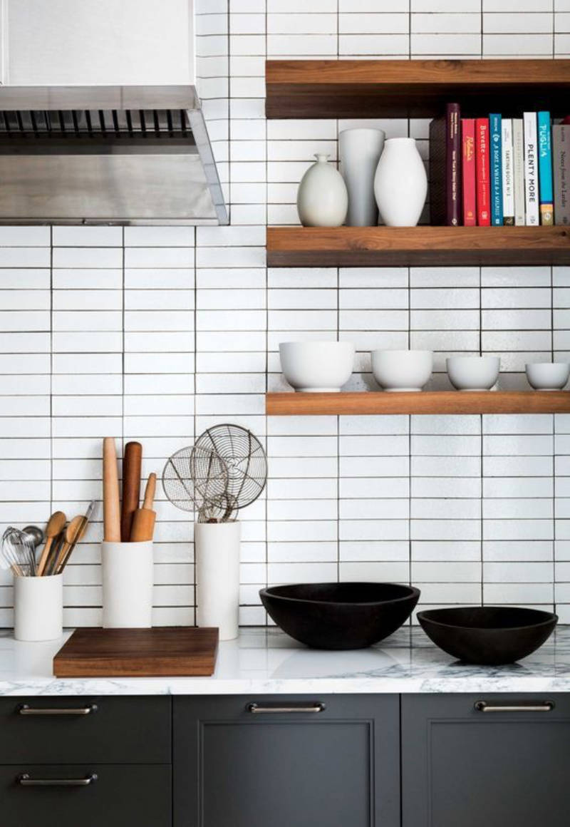 Subway tiles can be done in linear fashion.