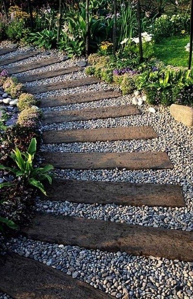 A walkway can also be a great idea