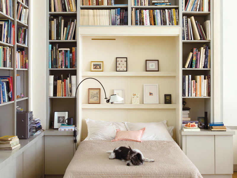 Here's another fine example of how Murphy beds can make a huge difference