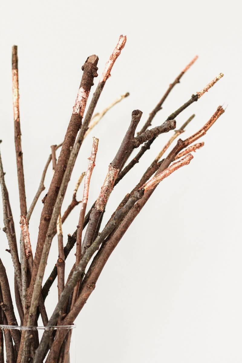 Just some twigs in a vase can be classy