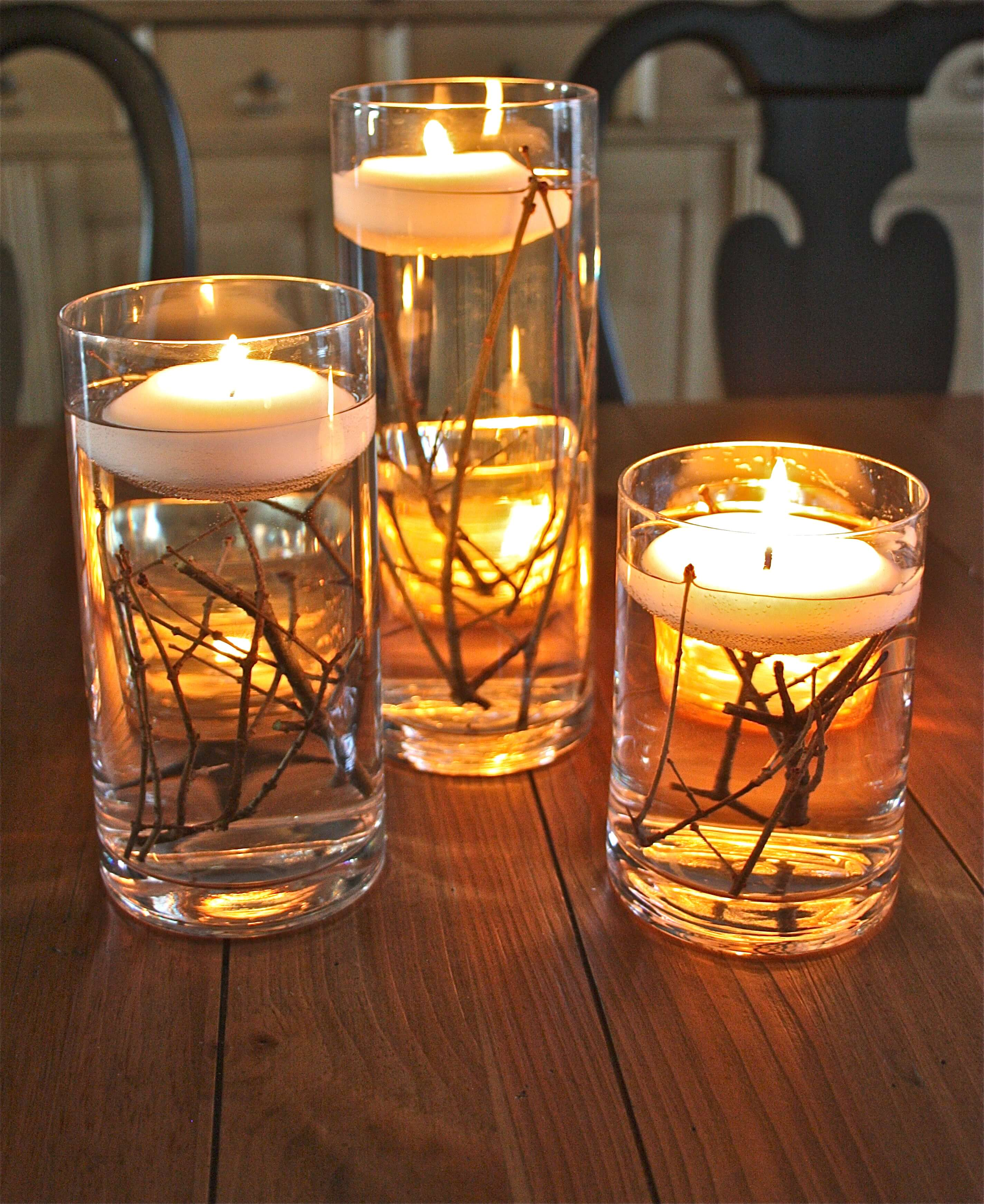 There's something so serene about floating candles