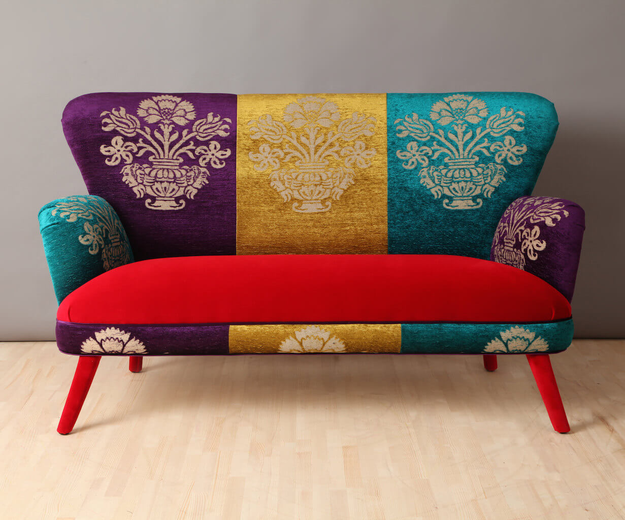 This colorful couch will light up a room