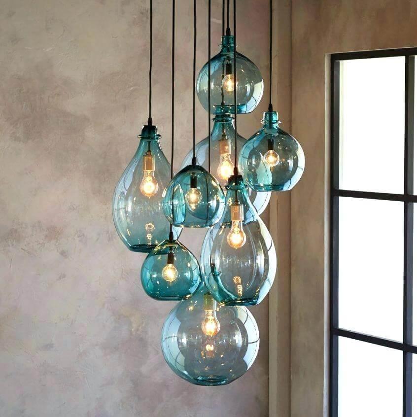 Bubble glass light fixture