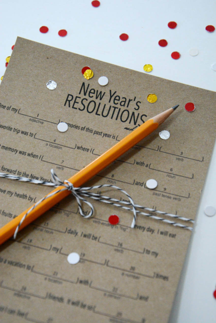 This New Year's Eve resolutions game can be quite fun to find out what you want.