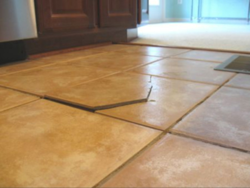 Cracked tiles are better replaced than simply repaired.