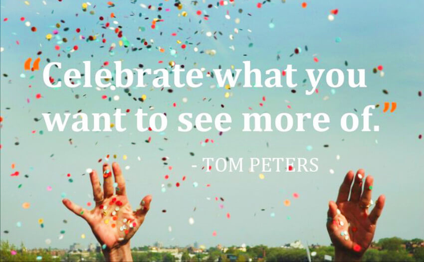 Tom Peters quote.
