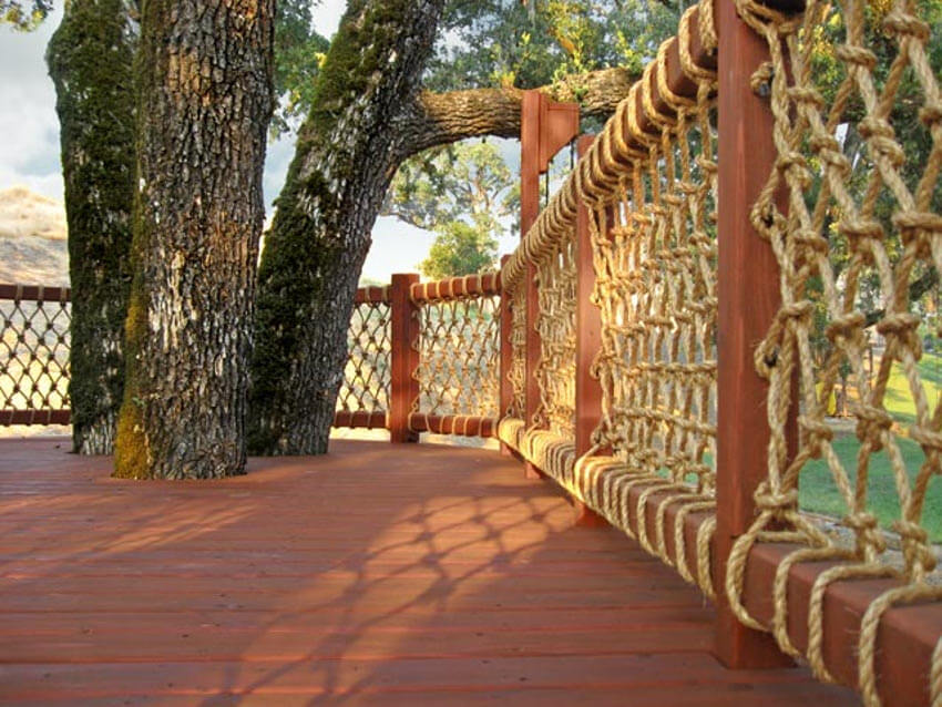 An unusual type of railing that is beautiful and unique!