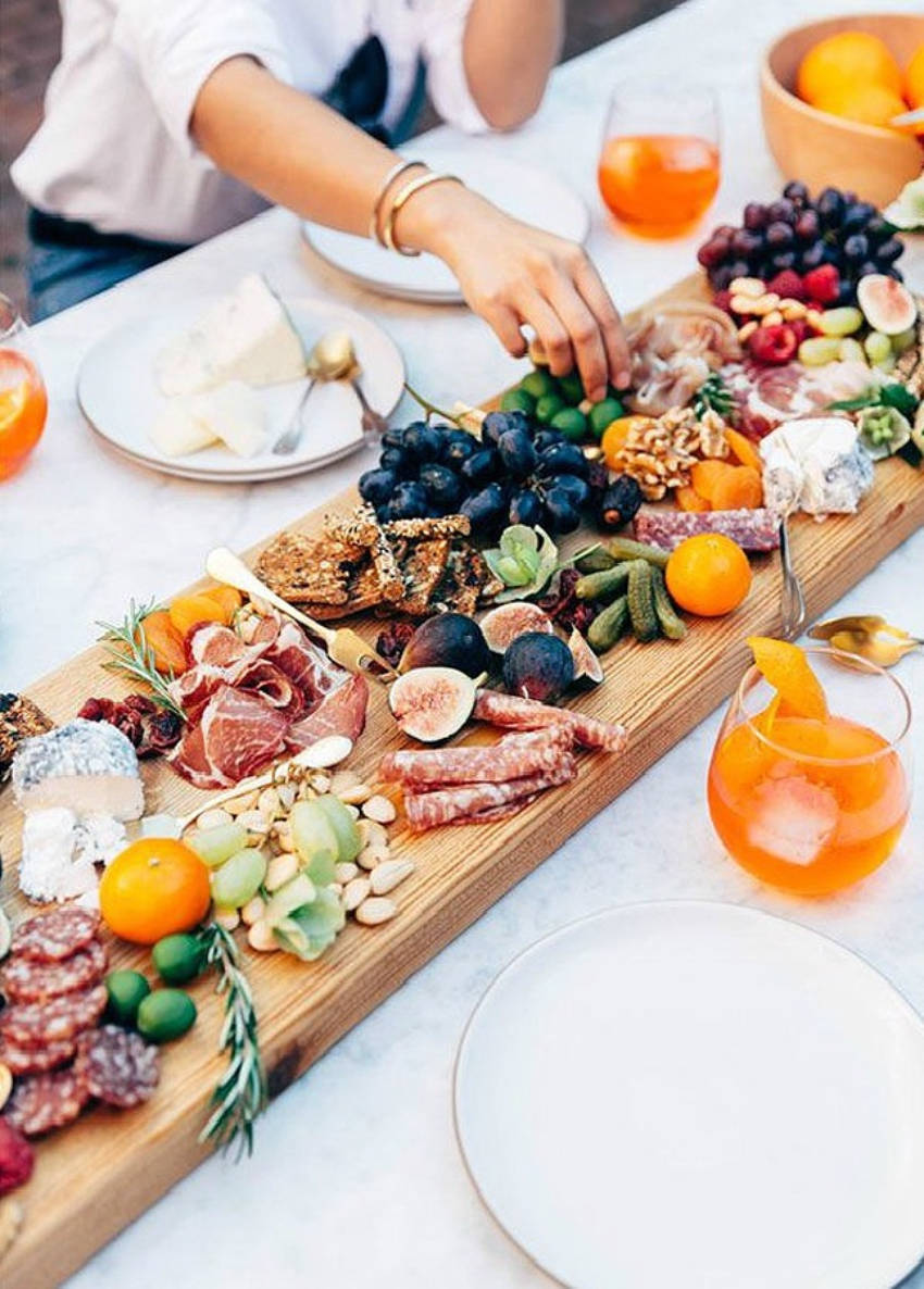 Snacks are everyone's favorite part of an outside dinner party!