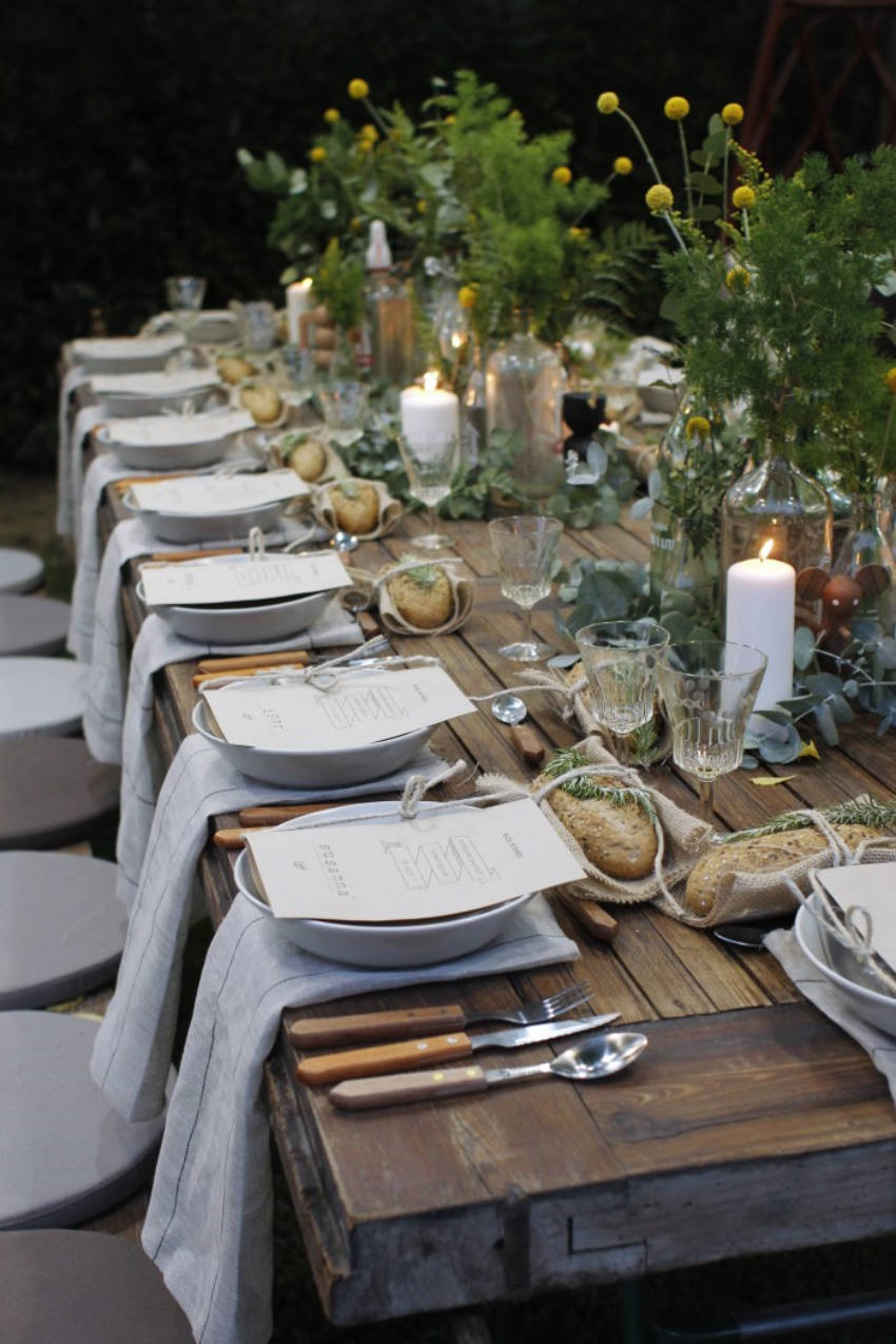 Be creative with the special touches on your dinner party!