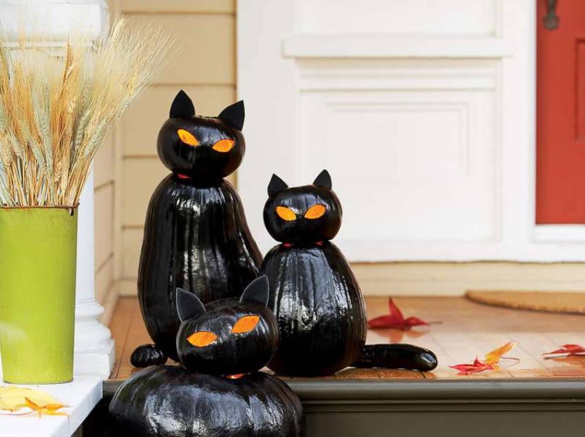 A nice twist on the usual Jack O'lantern - a Cat O'Lantern!