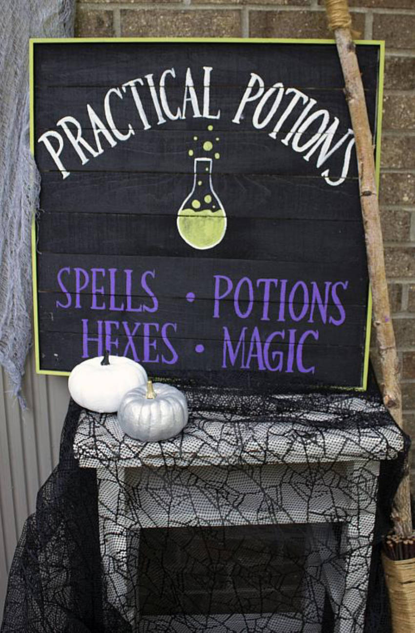 Give an RPG vibe to your home with this Practical Potions sign.