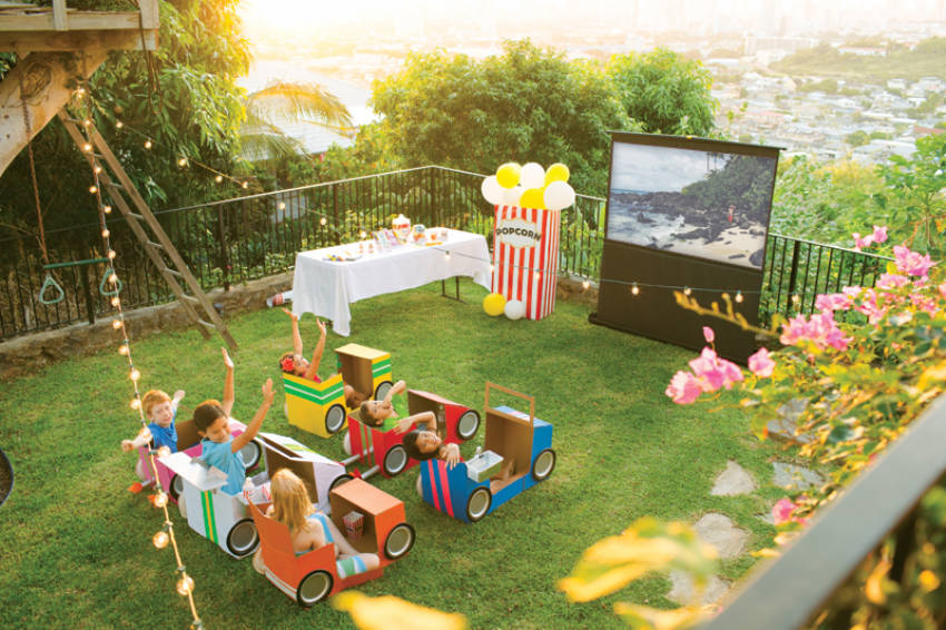 How To Set Up Your Own Outdoor Movie Theater